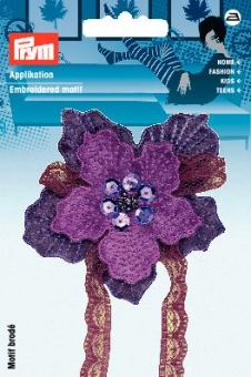 Applikation Blume violett
