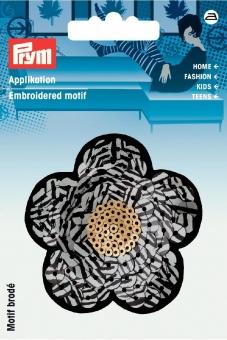 Applikation Blume mit Pailletten