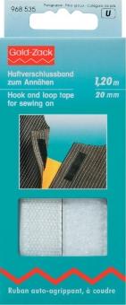 Haftverschlussband weiß 120cm