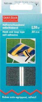 Haftverschlussband schwarz 120cm