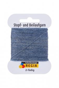 Regia 2-fädig Stopf- und Beilaufgarn 1980 graublau meliert