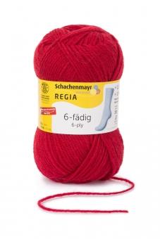 Regia 6-fädig Uni Sockenwolle 50g 2002 kirsche