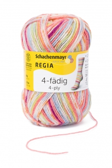 Regia 4-fädig Color Sockenwolle 50g 1132 square candy color