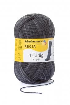 Regia 4-fädig Color Sockenwolle 50g 1933 denim schwarz