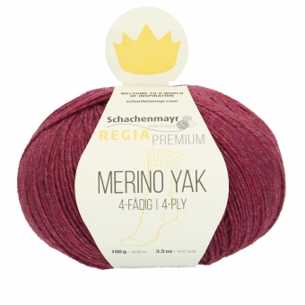 Regia Premium Merino Yak 100gr 4-fädig 07517 Raspberry