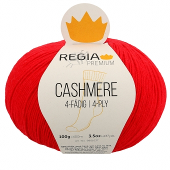 Regia Premium Cashmere Sockenwolle 4-fädig 100g 82 lipstick red
