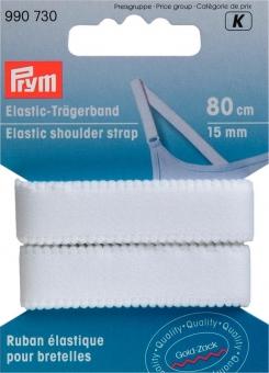Elastic-Trägerband 15mm weiß