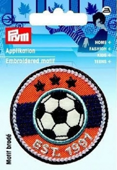 Applikation Label Fussball