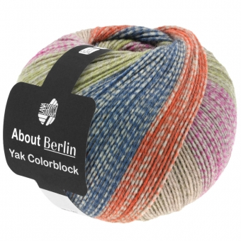 About Berlin Yak Colorblock Lana Grossa Sockenwolle