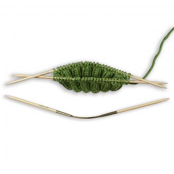Addi CraSy Trio Bamboo 24cm Socken-Stricknadeln 3er-Set