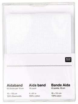 Aida-Band zum Besticken weiss