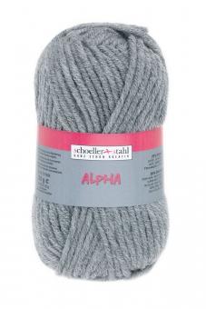 Alpha Wolle Schoeller Stahl 11 grau-mel.