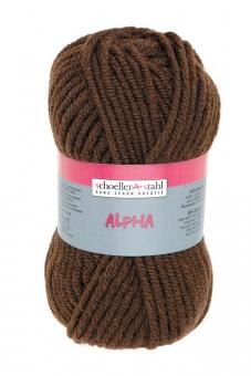 Alpha Wolle Schoeller Stahl 16 kaffee