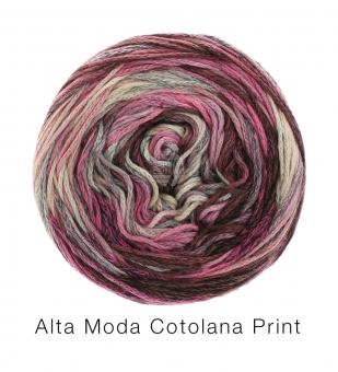 Alta Moda Cotolana Print Lana Grossa 104 Graubraun/Dunkelgrau/Grau/Rosa/Flieder/Altrosa