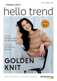 Anleitungsheft Nr. 1 Hello Trend - Golden Knit Schachenmayr