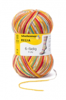 Regia 150g-Knäuel 6-fädig Color Sockenwolle 01125 square circus color