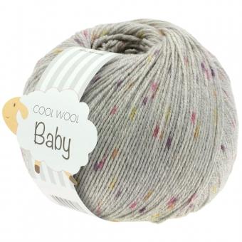 Cool Wool Baby Print Punto Lana Grossa 50g 357 Hellgrau/Beere/Brombeer/Gelb