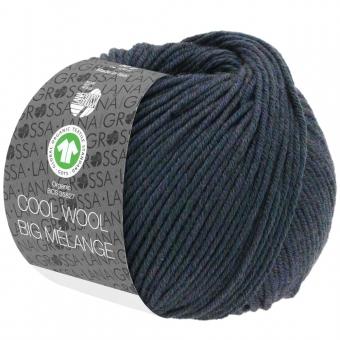 Cool Wool Big Melange Lana Grossa 204 Blaugrün meliert