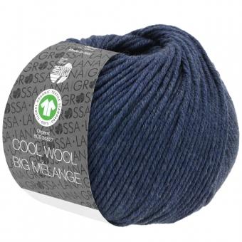 Cool Wool Big Melange Lana Grossa 212 Dunkelblau meliert