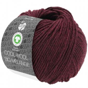 Cool Wool Big Melange Lana Grossa 219 Dunkel-/Schwarzrot meliert