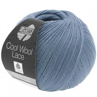 Cool Wool Lace Lana Grossa 02 Taubenblau
