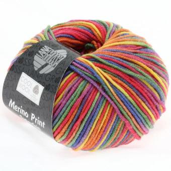 Cool Wool Print Lana Grossa 703 lila/grün/himbeer/orange/gelb/blau