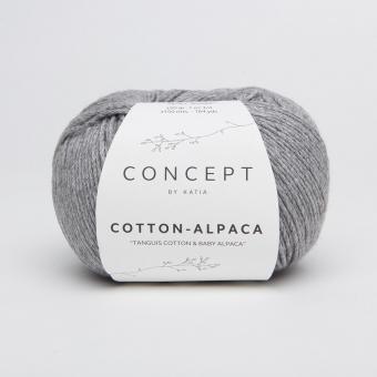Cotton Alpaca Wolle von Katia 84 Mittelgrau