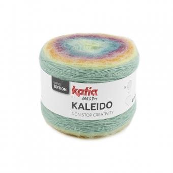 Kaleido von Katia 307 Rosé-Pastellblau-Pastellgelb-Hellorange