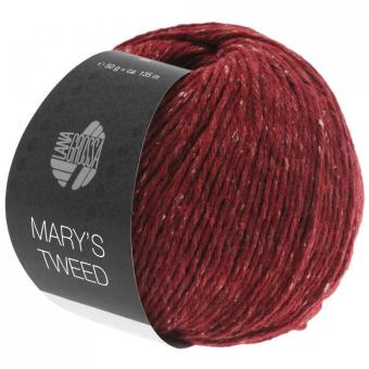 Mary's Tweed Lana Grossa 05 Dunkelrot meliert