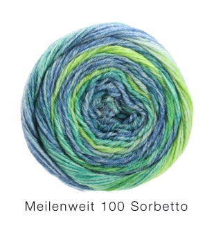 Meilenweit 100 Sorbetto Lana Grossa Sockenwolle 6253