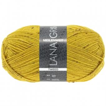 Meilenweit 100 Tweed Lana Grossa Sockenwolle 157 Senfgelb