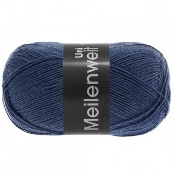Meilenweit 100 Uni Lana Grossa Sockenwolle 1342 Blau