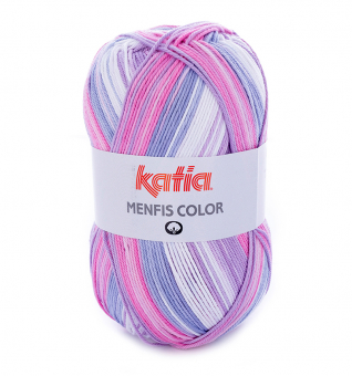 Menfis Color Katia 100g-Knäuel 101 Rosé-Lila