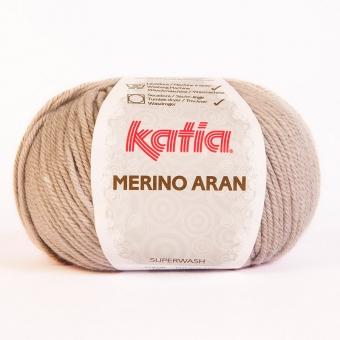 Merino Aran von Katia 100g-Knäuel 12 Hellgrau