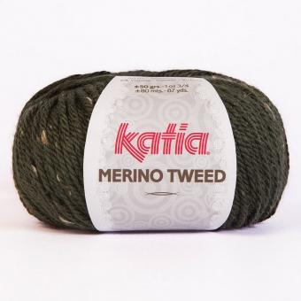 Merino Tweed Wolle von Katia 310 Dunkelgrün