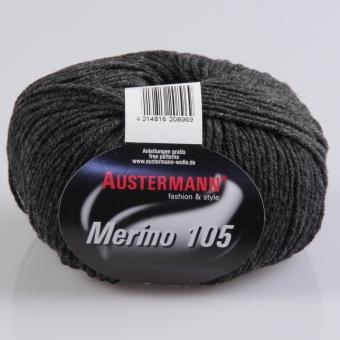 Merino 105 Wolle Austermann 334 anthrazitmeliert