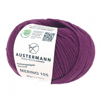 Merino 105 Wolle Austermann 320 brombeer