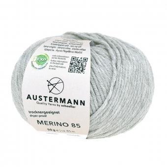 Merino 85 Wolle Austermann 63 hellgrau meliert