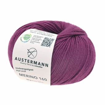 Merino 160 Wolle Austermann 220 brombeer