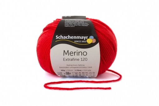 Merino Extrafine 120 Schachenmayr 00130 tomate