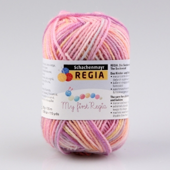 Baby Smiles My first Regia Sockenwolle 01815 Lea color