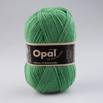 Opal 100g 4-fädig Uni Sockenwolle 1990 grasgrün