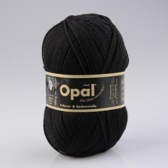 Opal 100g 4-fädig Uni Sockenwolle 2619 tiefschwarz