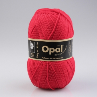 Opal 100g 4-fädig Uni Sockenwolle 5180 rot