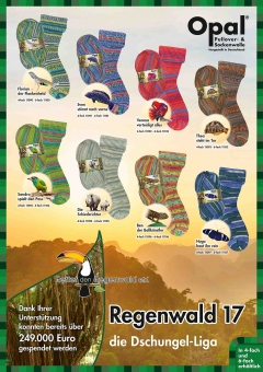Opal 6-fädig Regenwald 17 Sockenwolle