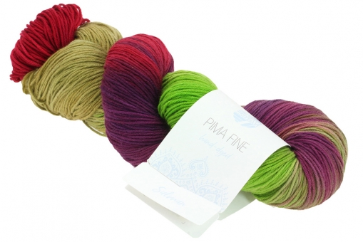 Pima Fine Hand-dyed Lana Grossa 704 Salman
