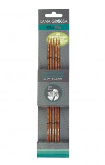Strumpfstricknadel Knit Pro Design-Holz Quattro Lana Grossa 2,0mm x 15cm