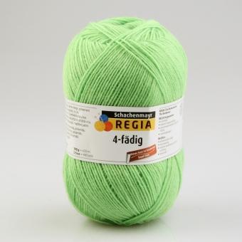 Regia 4-fädig 100g Uni Sockenwolle 06613 knall frosch