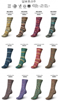 Regia 150g-Knäuel 8-fädig Color Sockenwolle