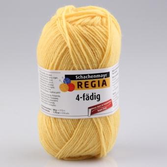 Regia 4-fädig Uni Sockenwolle 2041 gelb